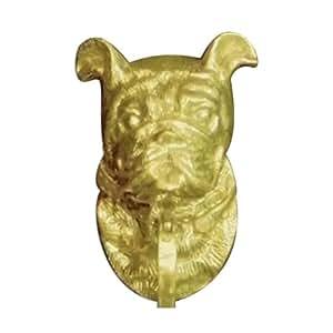 Mayer mill brass decorative polished antique bull dog door knocker - Bulldog door knocker ...