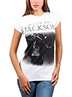 Amplified Camiseta Manga Corta Michael Jackson (Blanco)