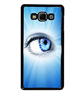PrintDhaba Blue Eye D-5798 Back Case Cover for SAMSUNG GALAXY A8 (Multi-Coloured)