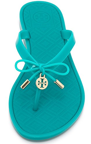 Tory Burch Jelly Flip Flops Shoes Sandals Flat (9, Ocean Turq) (Tory Burch Jelly compare prices)