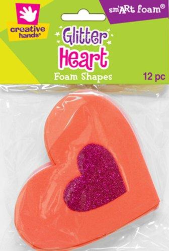 Fibre Craft - Creative Hands 13192E Glitter Foam Heart Shaped Stack for Craft Supplies
