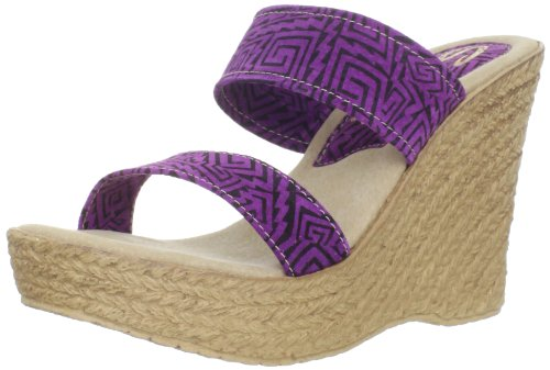 Sbicca Women's Kelli Wedge Sandal,Purple,7 B US