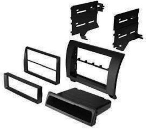 American International TOY-K967 2007 2008 2009 Toyota Tundra Matte Black DIN with Pocket & Double DIN Radio Dash Install Mounting Kit 07 08 09