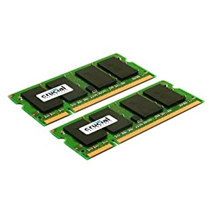 Crucial 4gb Kit 2gbx2 Ddr2 667mhz Pc2-5300 Cl5 Sodimm 200-pin Notebook Memory Modules Ct2kit25664ac667