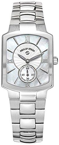 Philip Stein Classic 21-cmop-ss327mm argento bracciale in acciaio & custodia zaffiro sintetico-Orologio da donna