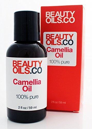 BEAUTYOILS.CO Camellia Oil Moisturizer - 100% Pure Cold Pressed Face Beauty Oil (2 fl oz)
