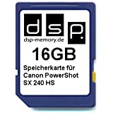 DSP Memory Z-4051557368491 16GB Speicherkarte f�r Canon PowerShot SX240 HS