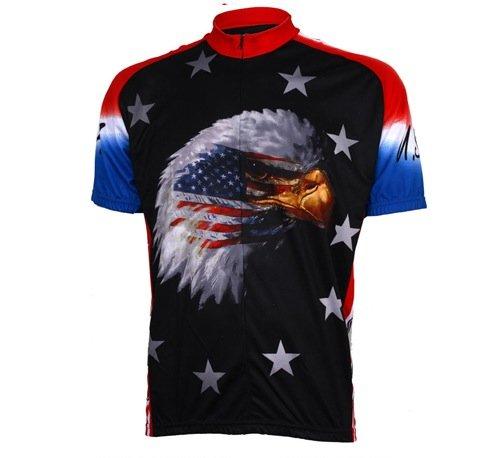 Buy Low Price World Jerseys Men's American Eagle Cycling Jersey (B004EWG2RU)