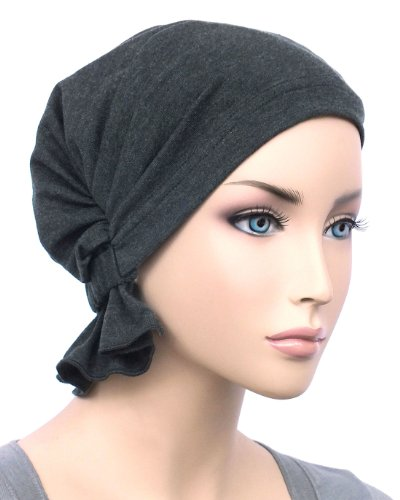 The Abbey Cap In Charcoal Gray Cotton Knit