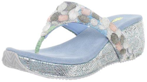 Volatile Women'S Lust Wedge Sandal,Blue,8 B Us front-475218