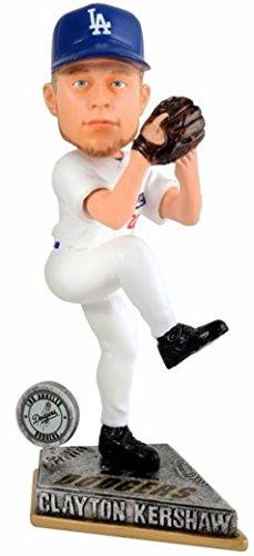 2015年 フォーエバー社 MLB ボブルヘッド Springy Logo /クレイトン・カーショー/ロサンゼルス・ドジャース