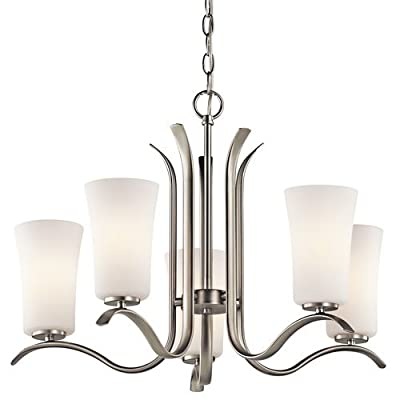 "Kichler 43074 Armida Single-Tier Chandelier with 5 Lights - 36"" Chain Included,"