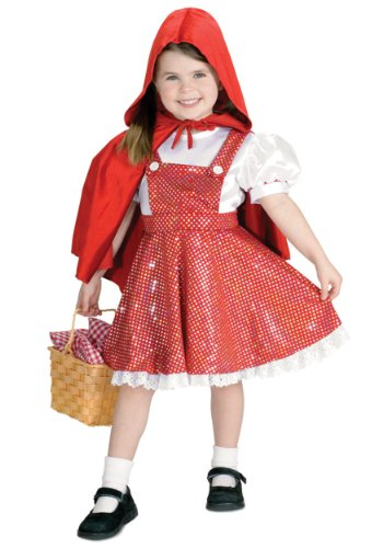 Little Girls' Sequin Red Riding Hood Costume