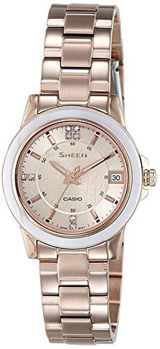 Casio 669B.03 SHE-4512PG-9AUER - Reloj para mujeres, correa de acero inoxidable color oro rosa