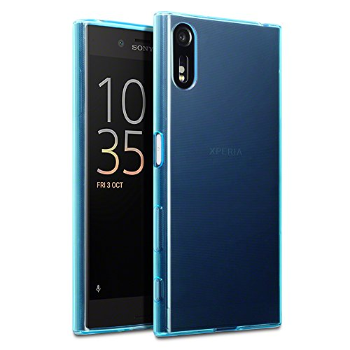 Xperia XZ Cover, Terrapin Sony Xperia XZ Case - TPU Gel - Slim Design - Durable Shock Absorbing - Back Protector - Blue