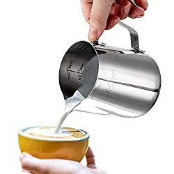 Stainless Steel Pitcher, X-Chef Milk Pitcher Frothing Pitcher 10-ounce
