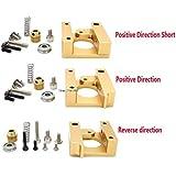 Generic Type C : 5set 3D Printer Accessories MK8 Extruder Aluminum Block DIY Kit Makerbot Dedicated Single Nozzle...