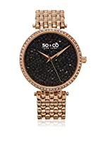 So&Co New York Reloj con movimiento cuarzo japonés Woman Crystal Studs Filled Dial 38 mm