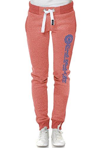 M.Conte Sweat-Pants Modello Ramona Pantaloni in Felpa sportivi da Jogging tuta felpa per donna rosso Taglia S