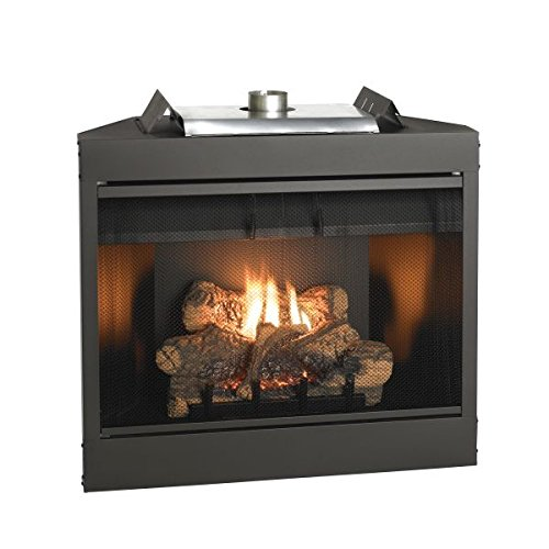 Deluxe 34 Keystone Series MV Louvered B-Vent Fireplace - Natural Gas (Gas Fireplace Empire compare prices)