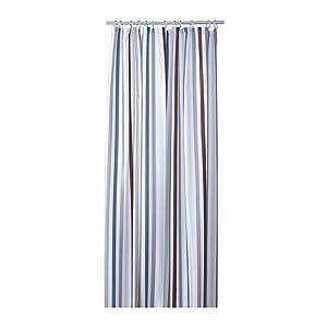 Ikea Bredgrund Shower Curtain Stripe Gray