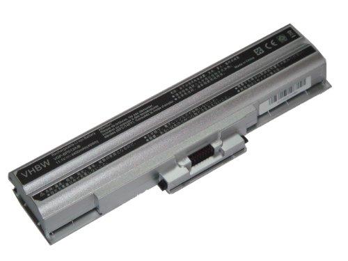 Batterie LI-ION 4400mAh 11.1V, argenté, pour SONY VAIO VGN-SR90FS etc., remplace VGP-BPL21, VGP-BPS21, VGP-BPS21A, VGP-BPS21B