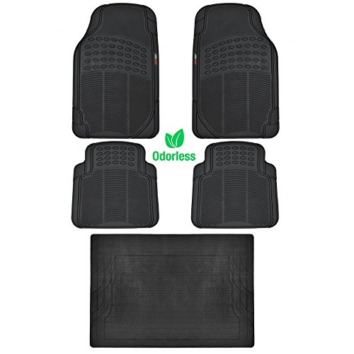 BDK BLACK 5 Piece Set Premium Heavy Duty Odorless Mats for Nissan Leaf (Nissan Leafs compare prices)