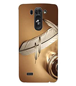 ColourCraft Lovely Feather Design Back Case Cover for LG G3 S