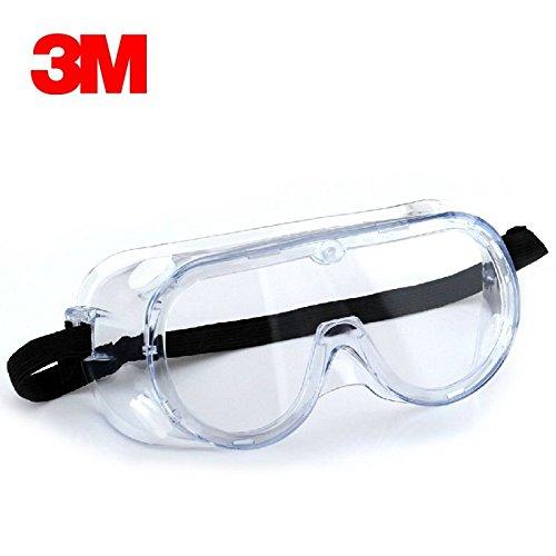ECVISION 3 M保護めがねアイマスク実験用ゴーグル バックルベルトタイプ 曇り止め/UVカット/化学物質のスプラッシュ防止/防塵 (1621)