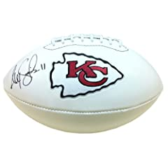Alex Smith Autographed Signed Kansas City Chiefs White Paneled NFL Logo Football by Radtke Sports