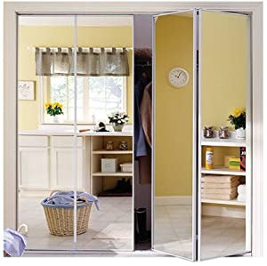 Home decor innovations 24 8278 steel framed bi fold mirror Home decor innovations