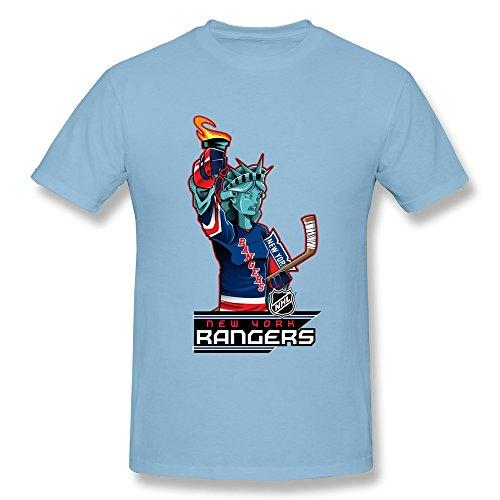 ToWi Men's NHL New York Rangers Short Sleeve T-shirt SkyBlue XXL
