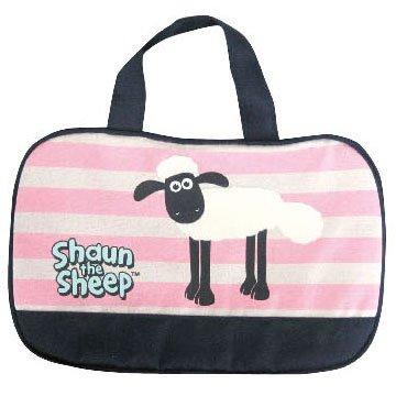 ひつじのショーン ランチボストンバッグ ボーダー柄 Shaun the Sheep
