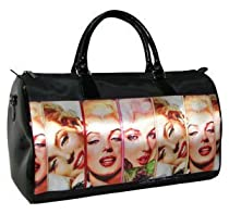 Marilyn Monroe Satin Travel / Overnight Bag & Key Chain