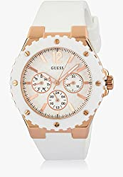 GUESS Overdrive Analog White Dial Womens Watch - W10614L2