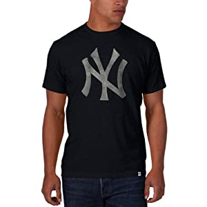 New York Yankees 47 Brand Cooperstown Navy Vintage-Logo Scrum T-Shirt by