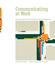 Communicating at Work Strategies for Success in Business and the Professions by Ronald Adler