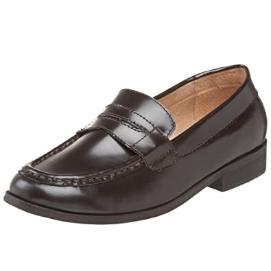 Mighty Joe Little Kid/Big Kid 9/A0369 Slip-On,Brown shiny,27 EU (10 M US Toddler)