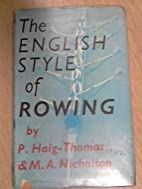 The English style of rowing: new light on an…