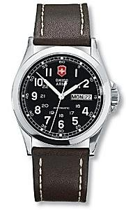 Victorinox Swiss Army Men's Infantry Mechanical Self-winding Leather Watch #24695