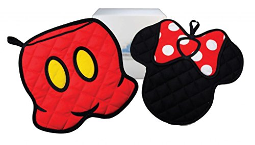 Disney Parks Mickey & Minnie Mouse 2 pc Potholder Set - Exclusive & Limited Availability