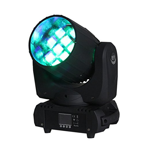 Yiscor Stage Lighting Led Moving Head Spot Beam Light 12X10W Rgbw 4-In-1 Fireworks Dmx512 For Dj Disco Club Home Garden Xmas Christmas Birthday Party Show Effect