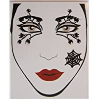 Crystal face tattoos--spider woman