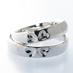 FukuFuku(フクフク) 結婚指輪 しあわせの四つ葉のクローバー マリッジペアリング SV925 シルバー