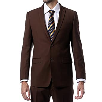 Zonettie-Ferrecci 2pc Slim Fit Solid Color Suit - Wedding Uniform - MANY COLORS