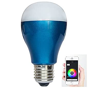 16 million different colors dimmable led light bluetooth 4 0 rgb smart 6w e27 led bulb wireless. Black Bedroom Furniture Sets. Home Design Ideas