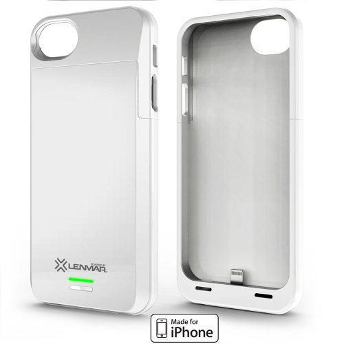 Best Price Lenmar Meridian Battery Case for iPhone 5 - Retail Packaging - White