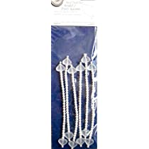 Wilton Heart Pearl Ties Bridal &amp; Party Accents - Set of 6 Ties