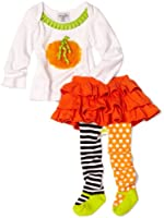 Mud Pie Baby Girls' Pumpkin Skirt Set