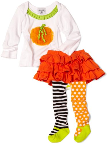 Mud Pie Baby-girls Infant Pumpkin Skirt Set, Multi, 12-18 Months